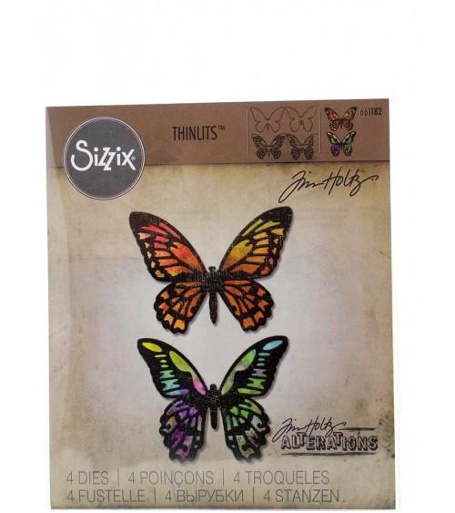 Sizzix - Tim Holtz - Thinlits Dies - Detailed Butterflies