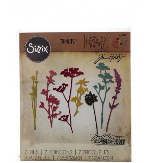 Sizzix - Tim Holtz - Thinlits Dies - Wildflowers