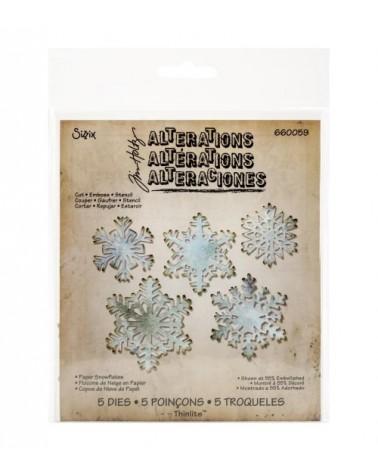 Sizzix - Tim Holtz - Thinlits Dies - Paper Snowflakes