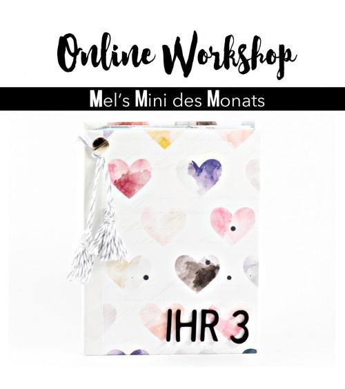 """Online Workshop """"Minialbum mit Drehseiten""""  von Mel"""