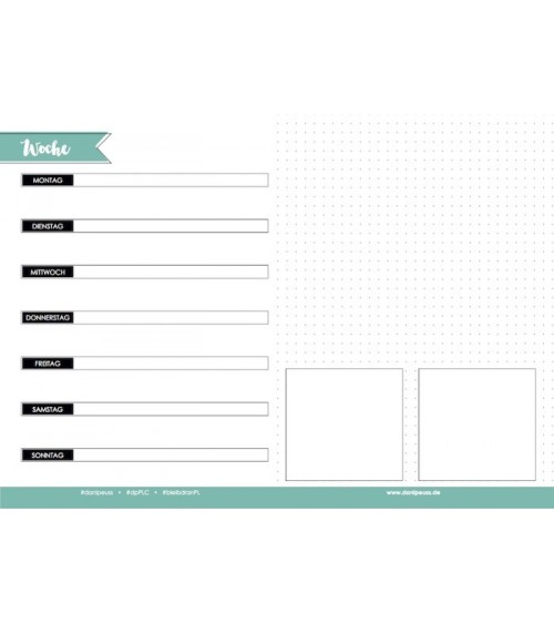 danipeuss.de - Project Life  Wochen Planner Pad A4 quer