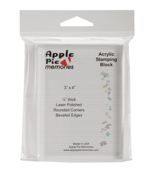"Apple Pie Memories - Acrylic Stamp Block 3x4"" (ohne)"
