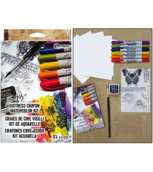 Ranger - Tim Holtz Distress Crayon Watercolor Kit