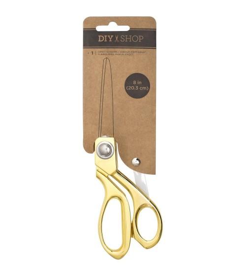 "AC - DIY Shop 4 - Cutup Scissors 8"" Gold Metal"