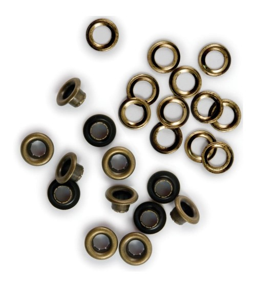 We R Memory Keepers - Eyelets & Washers - Standard Brass (30Stk)