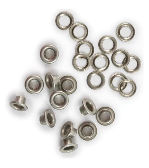 We R Memory Keepers - Eyelets & Washers - Standard Nickel (30Stk