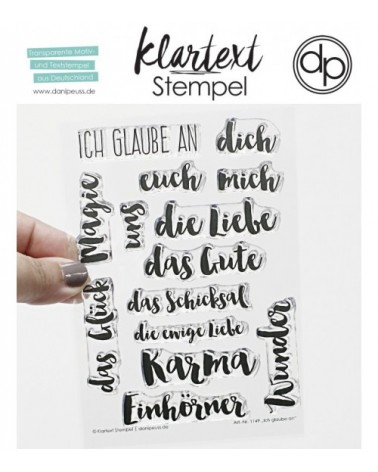 """Klartext-Stempelset A6 """"Ich glaube an"""""""