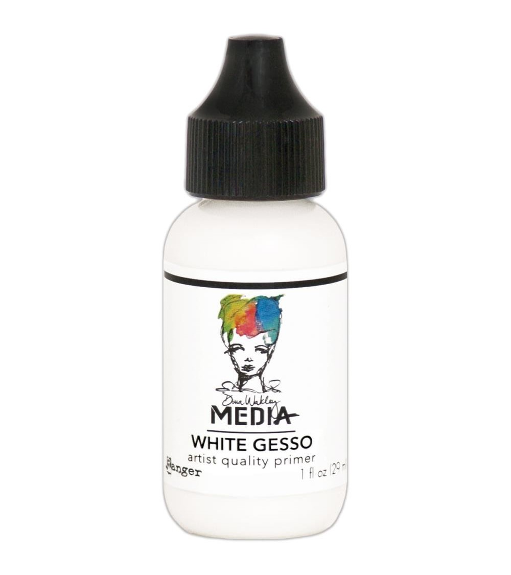 Ranger - Dina Wakley Media - White Gesso (29 ml Flasche)