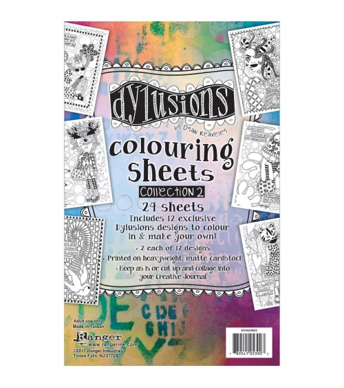 """Ranger - Dyan Reaveley's Dylusions - Coloring Sheets 5x8""""  2"""