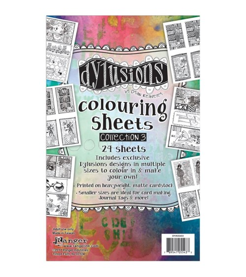 """Ranger - Dyan Reaveley's Dylusions - Coloring Sheets 5x8""""  3"""