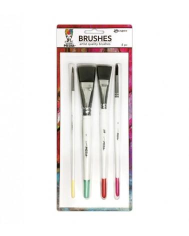 Ranger - Dina Wakley - Stiff Bristle Paint Brush 4-pack