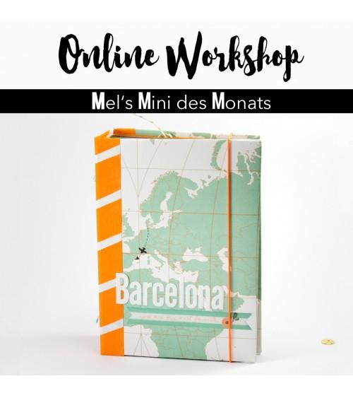 """Online Workshop """"Minialbum für 10x15 Fotos""""  von Mel"""