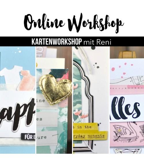 """Karten Online Workshop mit Reni """"Gutscheinkarten"""""""