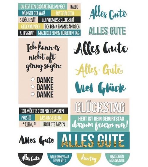"Printables ""Alles Gute"""