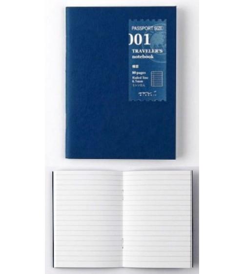 Midori - Traveler's Notebook - Passport Size 001 Line Refill MD