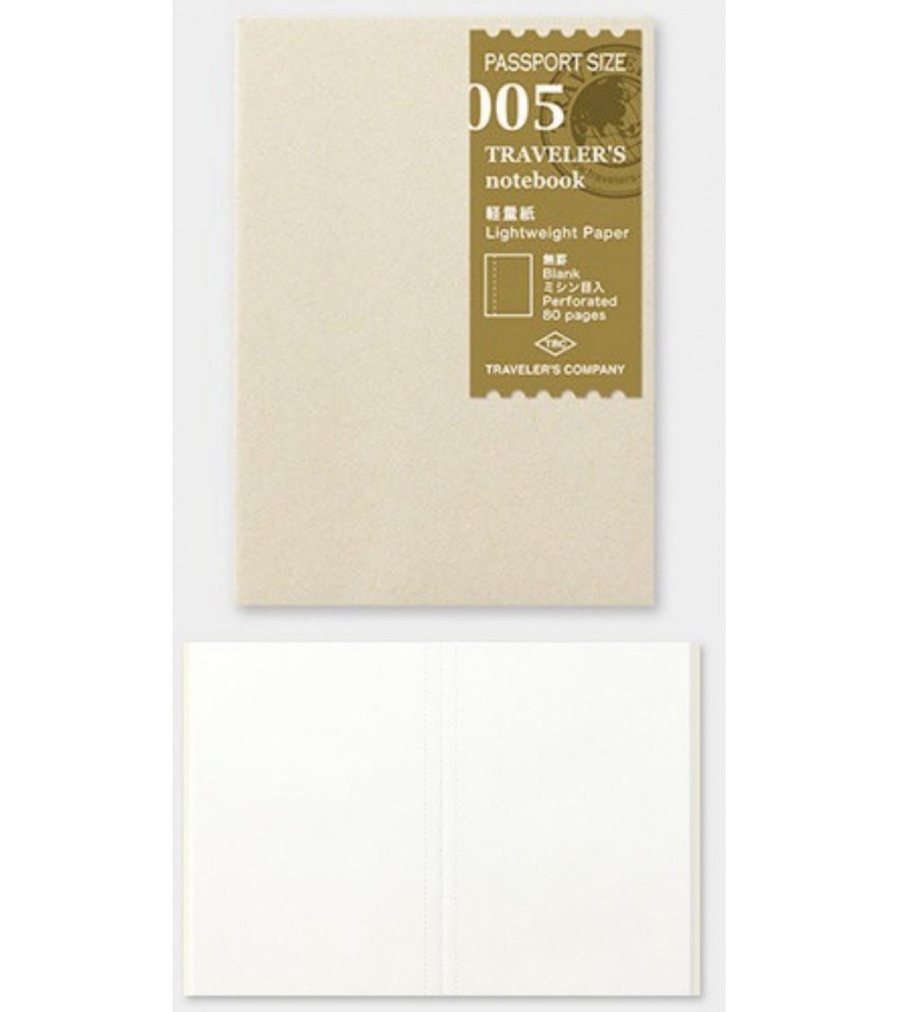 Midori - Traveler's Notebook - Passport Size 005 Lightw RefillMD
