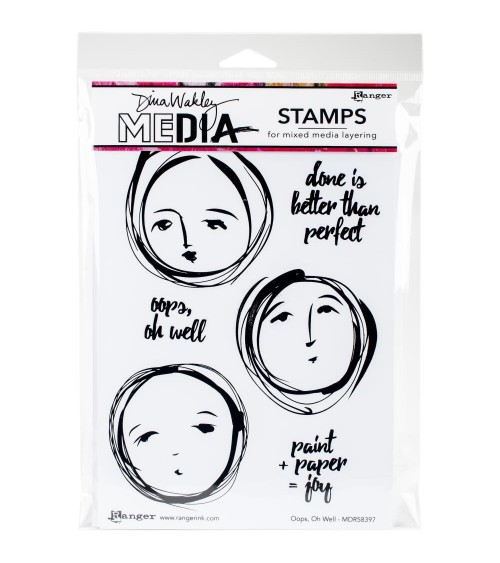 Ranger - Dina Wakley Cling Stamps - Oops