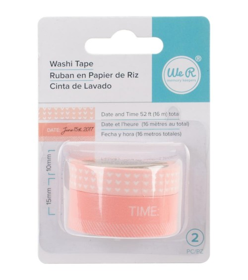 WRMK - Chomper Washi Tape - Day & Time-Coral