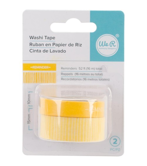WRMK - Chomper Washi Tape - Reminders-Yellow