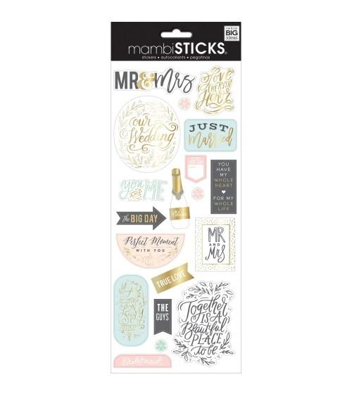 MAMBI - Happy Planner Mambi Sticks - Mr. & Mrs.