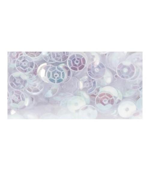 Darice - Craft Designer Cupped Sequins - White Iridescent (5mm)