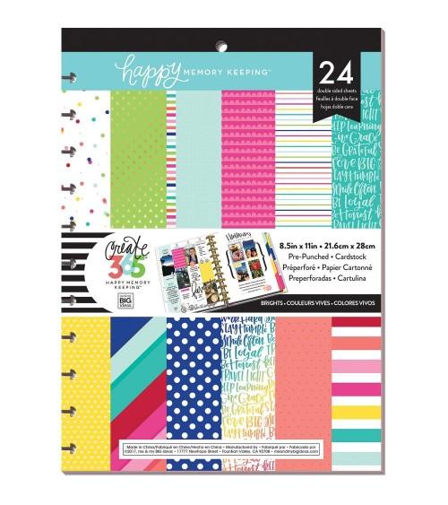 "MAMBI - Happy Planner - Paper Pad 8.5x11"" Brights"