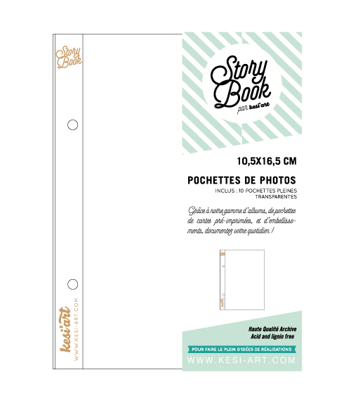 kesi-art - Schutzhüllen - Pocket Pages 10x16cm (ohne Unterteilun