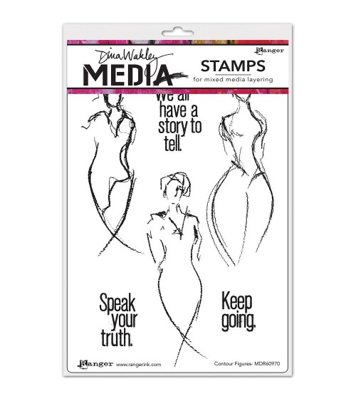 Ranger - Dina Wakley Cling Stamps - Contour Figures