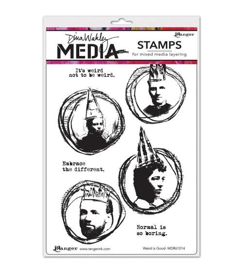 Ranger - Dina Wakley Cling Stamps - Weird Is Good