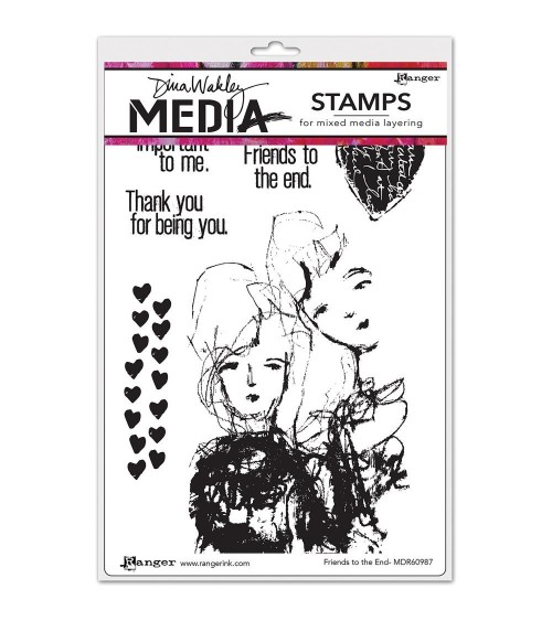 Ranger - Dina Wakley Cling Stamps - Friends To The End