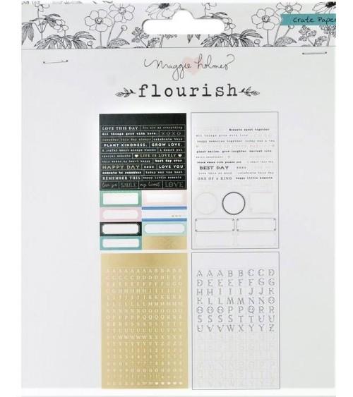 Crate - Maggie Holmes Flourish - Mini Sticker Phrases