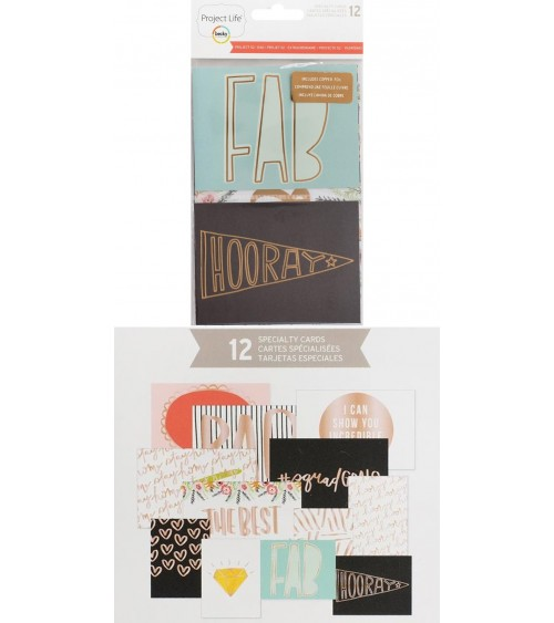 Project Life - Project 52 Rad - Specialty Foil Card Pack