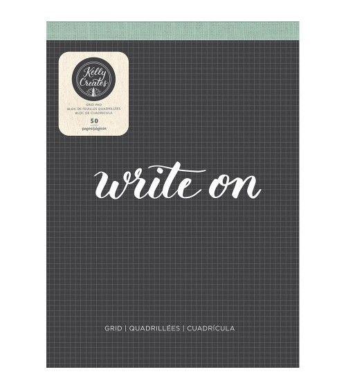 AC - Kelly Creates - Learn Brush Lettering Paper Pad Grid