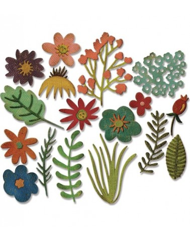Sizzix - Tim Holtz - Thinlits Dies - Funky Floral  1