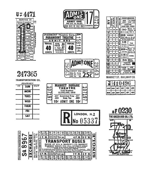Stampers Anonymous - Tim Holtz Cling Stamps - Ticket Booth