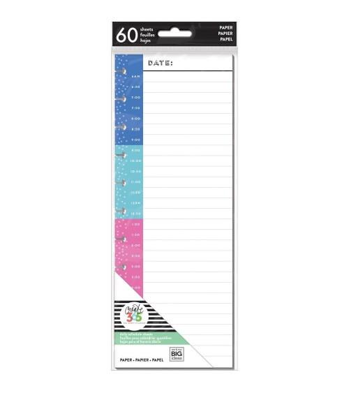 MAMBI - Happy Planner Half Fill Paper Big - Teacher Time Stamp