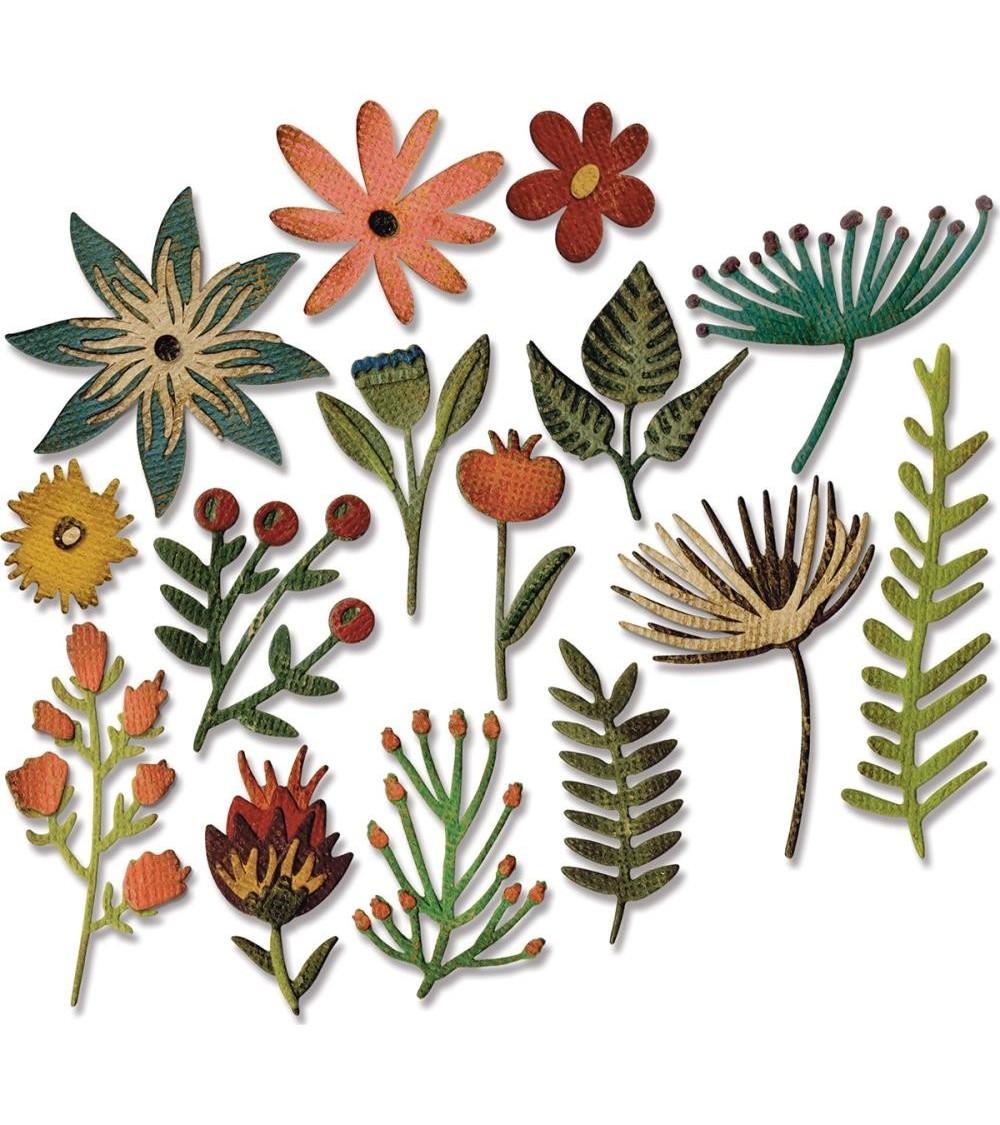 Sizzix - Tim Holtz - Thinlits Dies - Funky Floral  3