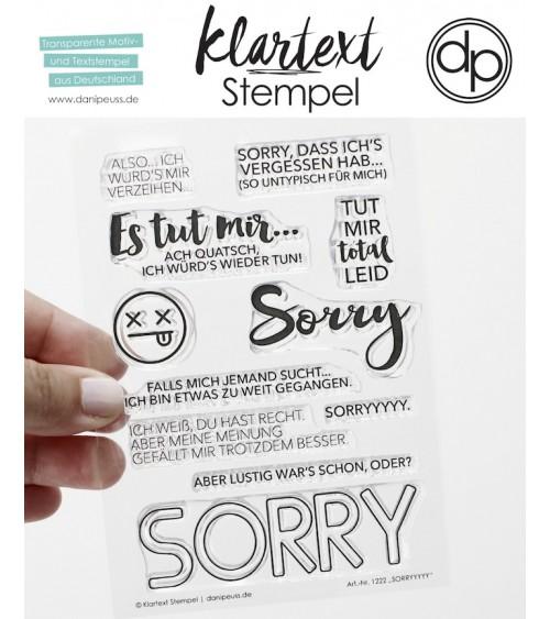 """Klartext-Stempelset A6 """"SORRYYYYY"""""""