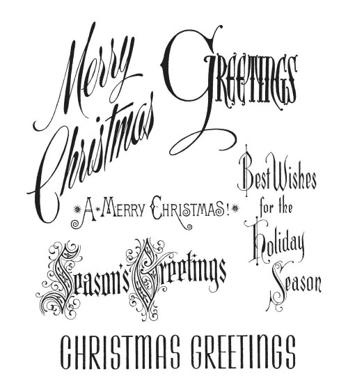 Stampers Anonymous - Tim Holtz Cling Stamps - Christmastime