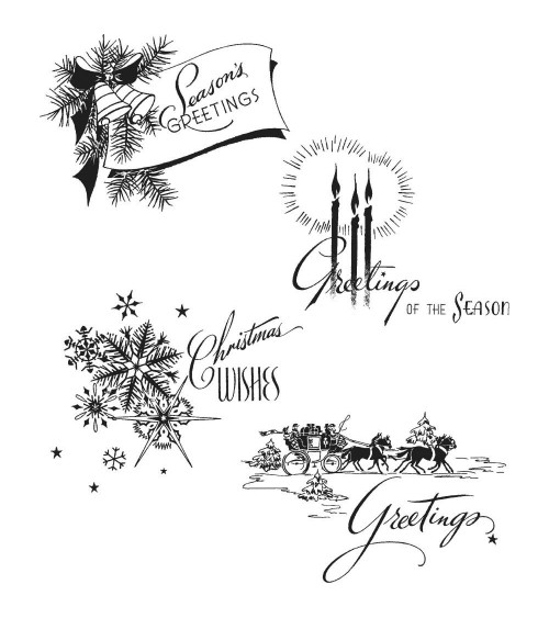 Stampers Anonymous - Tim Holtz Cling Stamps - Holiday Greetings