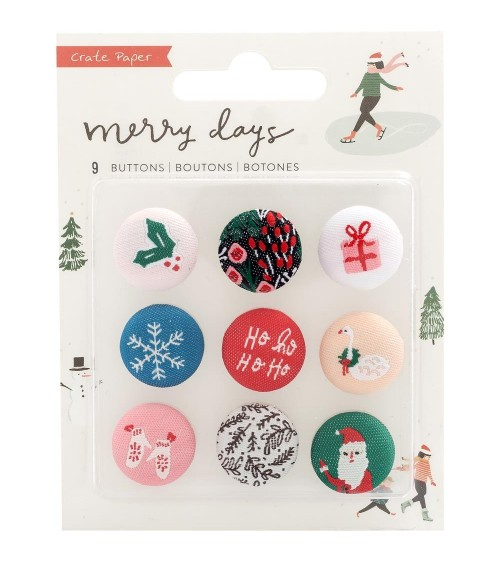 Crate - Merry Days - Fabric Buttons