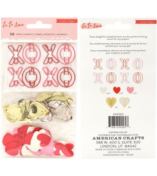 Crate - La La Love - Embellishments (Sequins & Clips)