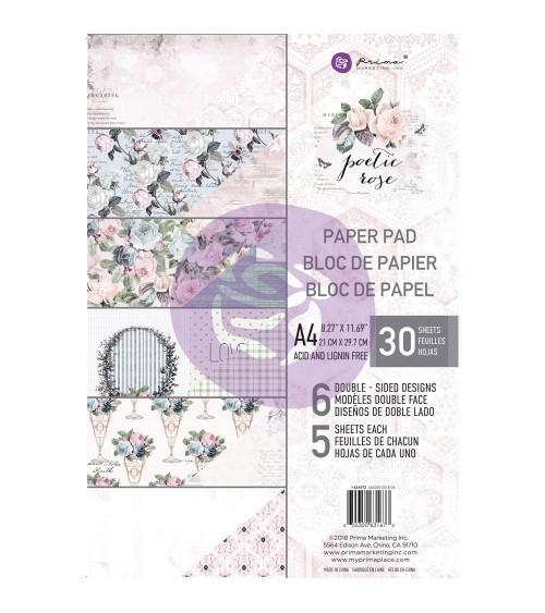 Prima - Poetic Rose - Paper Pad A4