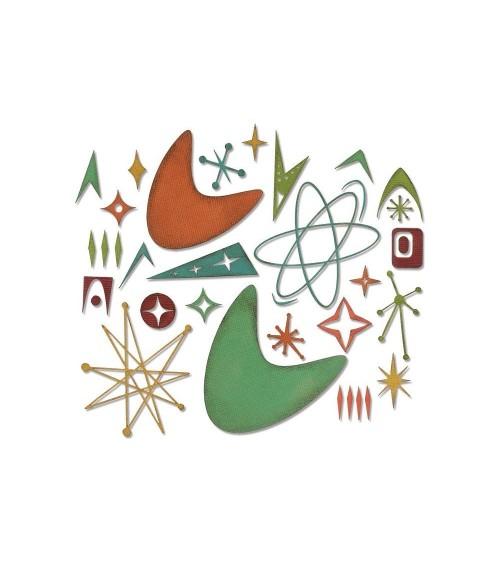 Sizzix - Tim Holtz - Thinlits Dies - Atomic Elements
