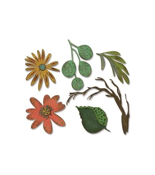 Sizzix - Tim Holtz - Thinlits Dies - Funky Floral