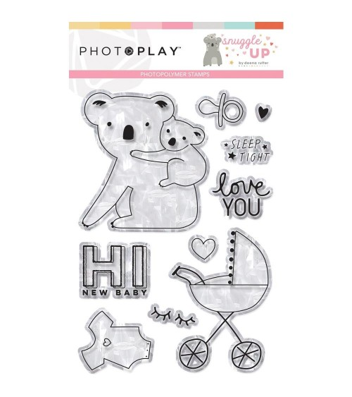Photo Play - Snuggle Up Girl - Clear Stamps