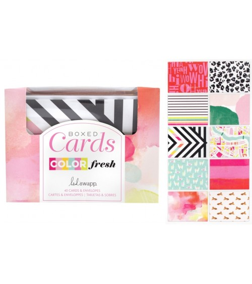 AC - Heidi Swapp - Color Fresh - Boxed Cards + Envelopes