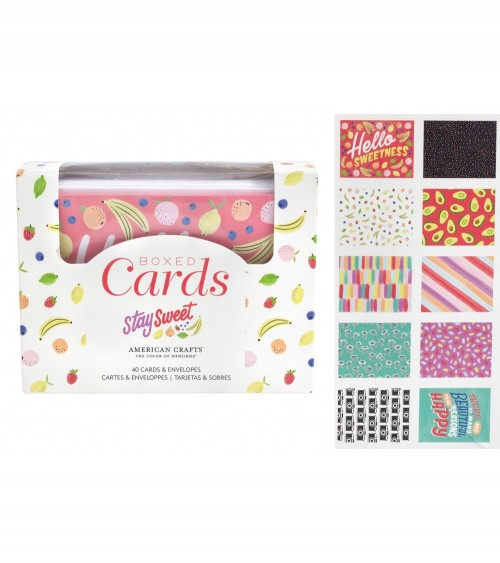 AC - Amy Tangerine Stay Sweet - Boxed Cards + Envelopes