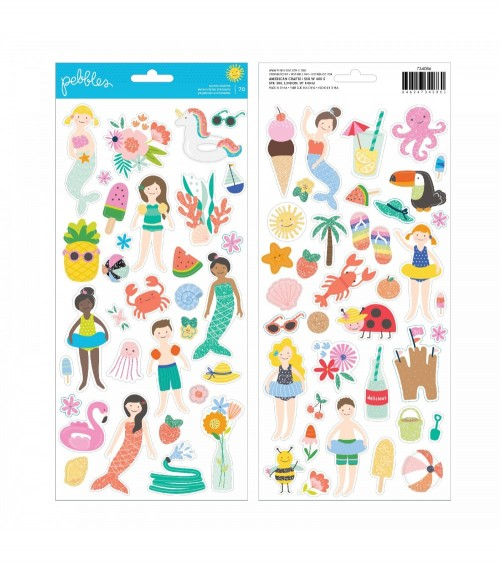 Pebbles - Oh Summertime - Icons & Accents Sticker