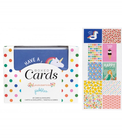 Pebbles - Oh Summertime - Boxed Cards + Envelopes